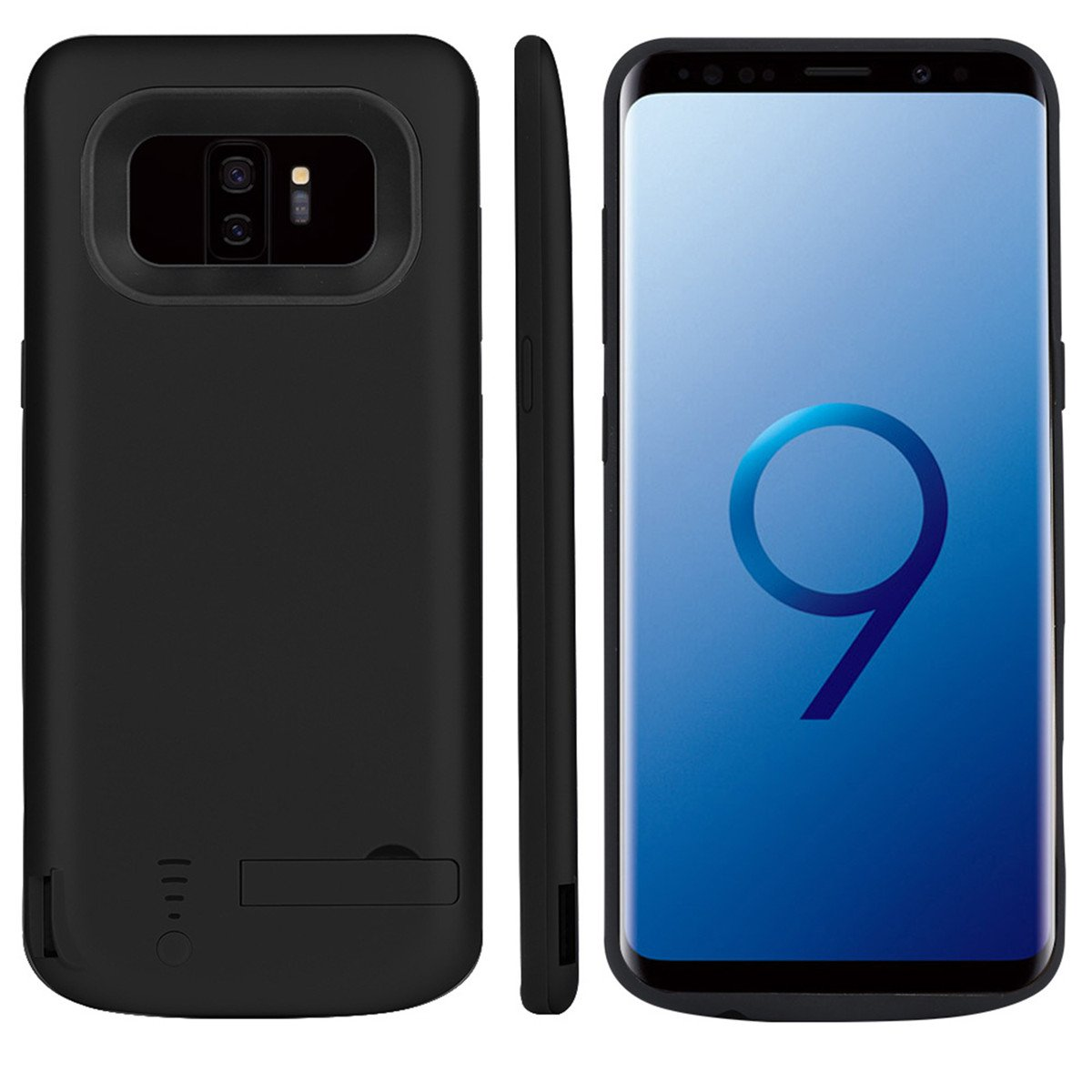 Promama Samsung Galaxy S9 Plus Battery Case, Accessories External Protective Battery ccover Compatible with Samsung Galaxy S9 Plus Juice Case [Accessories ] - Black
