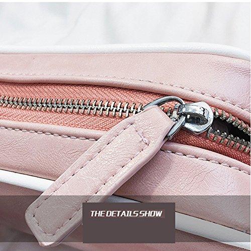 YAN Womens Umhängetasche Schultertasche Clutch Bag Funktionelle Taschen Reisetasche Schultaschen Brieftaschen Alle Saison Schwarz Blau Rosa Weiß (Color : Weiß) Rosa fzl570QGZe