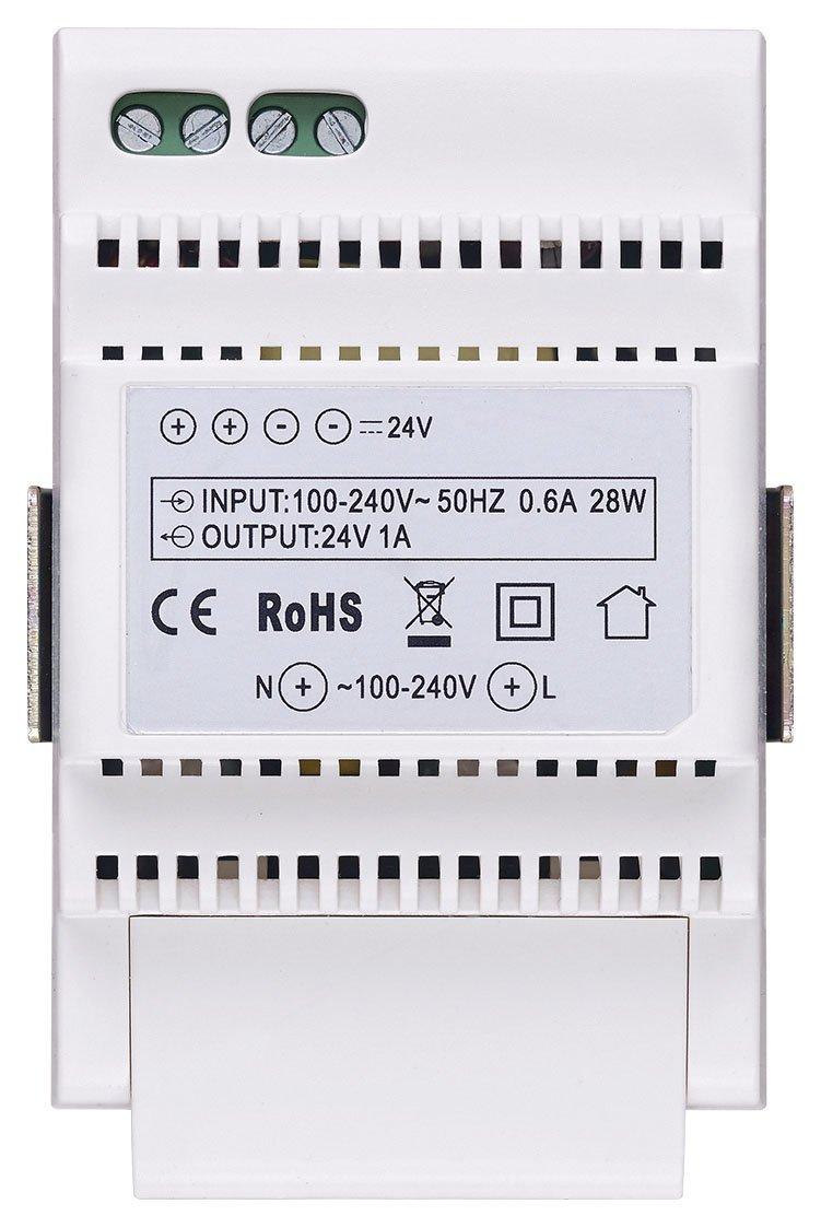 occupa 3/m/ódulos de 17,5/mm /240/V ~ 50//60/Hz Vimar 40103/fuente para videocitofonia con salida 24/V transmisi/ón 100/ 60715/TH35 instalaci/ón sobre gu/ía DIN