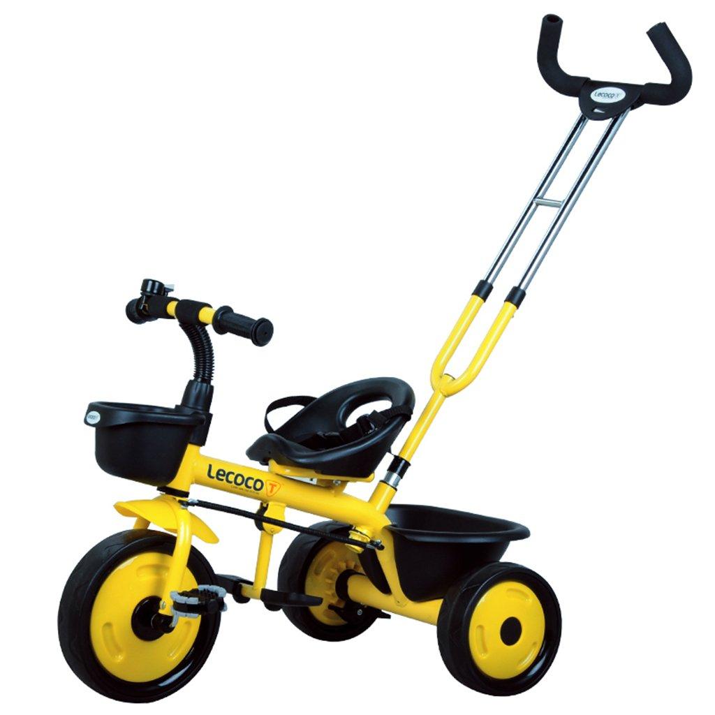 XQ- Triciclo para Niños Bicicleta para Niños Bicicleta 3-6 Años Cinturón De Seguridad Putter (Color : Azul)