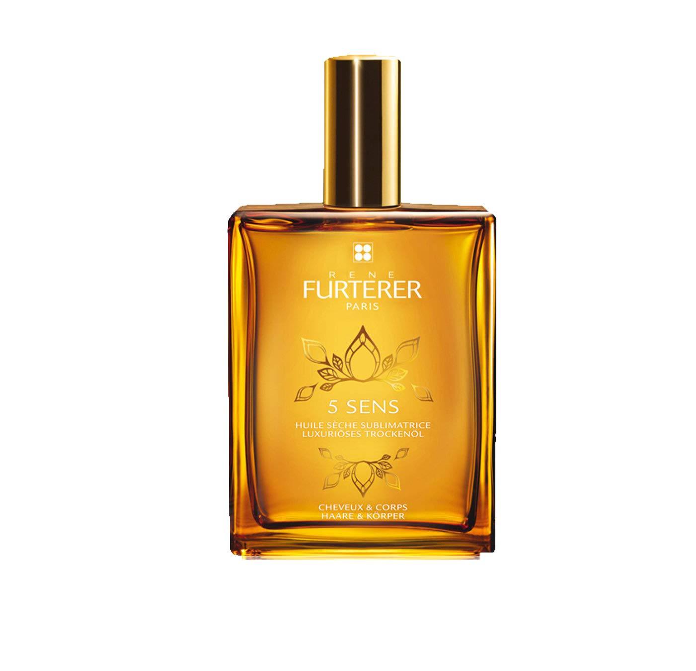 Rene Furterer 5 SENS Enhancing Dry Oil, Multi-Purpose Hair & Skin, Jojoba Oil, Spray, 3.3 oz.