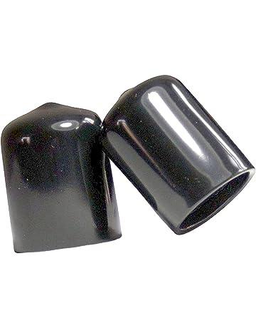 Fußkappen 15x15x2mm Tube Stopper End Caps Black Caps New