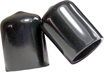 1 inside Height. 1-5//8 to 1-11//16 Round Black Vinyl Flexible End Cap Bolt Screw Rubber Thread Protector Safety Cover for 1.625 Inch Pipe Post Tubing Rod OD Cover Pack of 25
