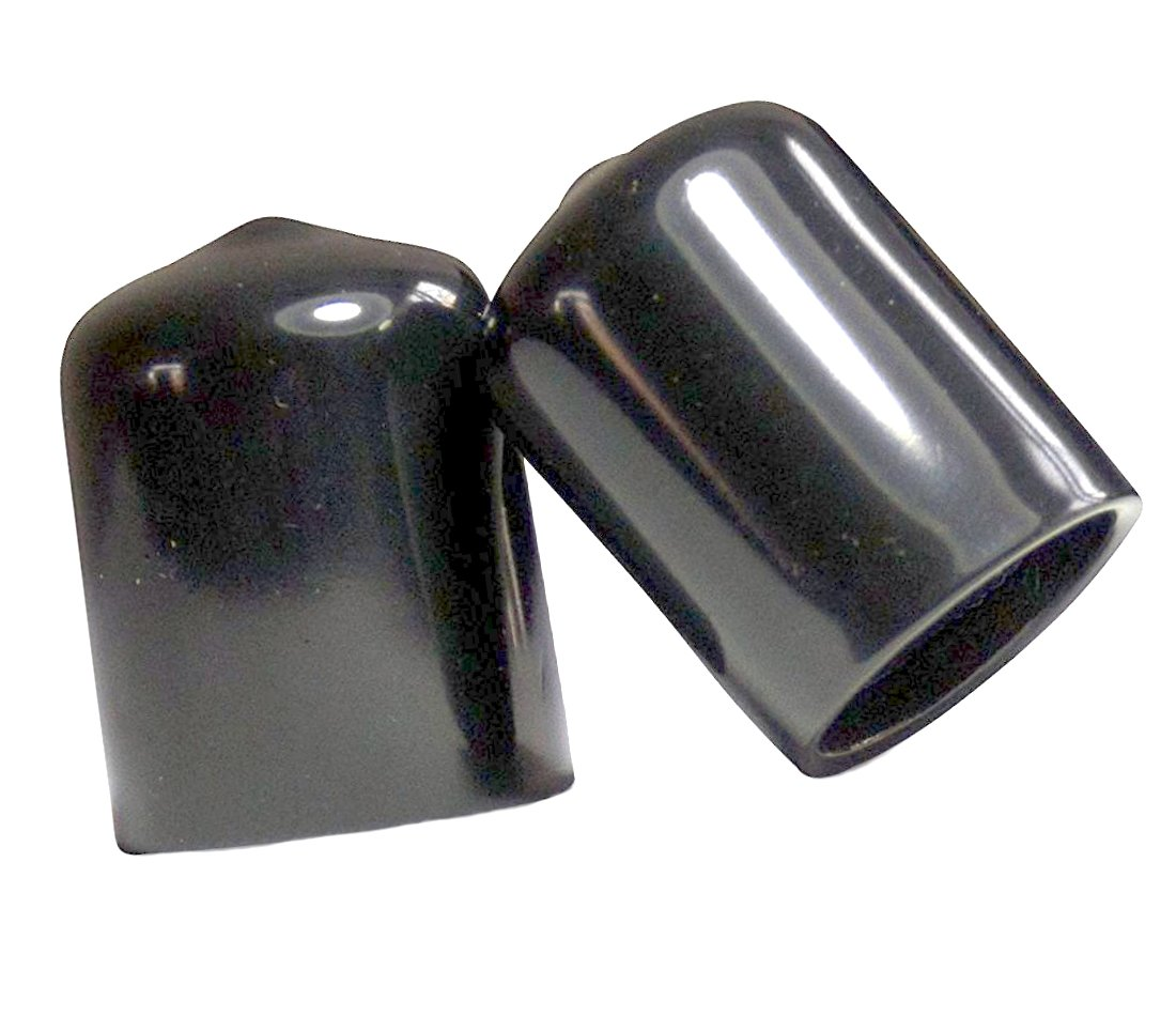SBDs (Pack of 10) 1-1/2'' Round Flexible Vinyl Push-On Black End Caps | Bolt Wire Screw Thread Protector Safety Cover Plugs 1 1/2 x 1 inch tall | Made in USA