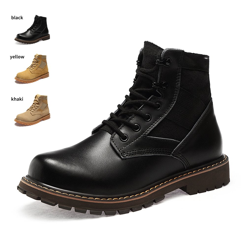 ENLEN&BENNA Women&Men's Desert Boots Military Boots Work Tactical Combat Boot Composite Toe Casual Boots Fashion Shoes Black