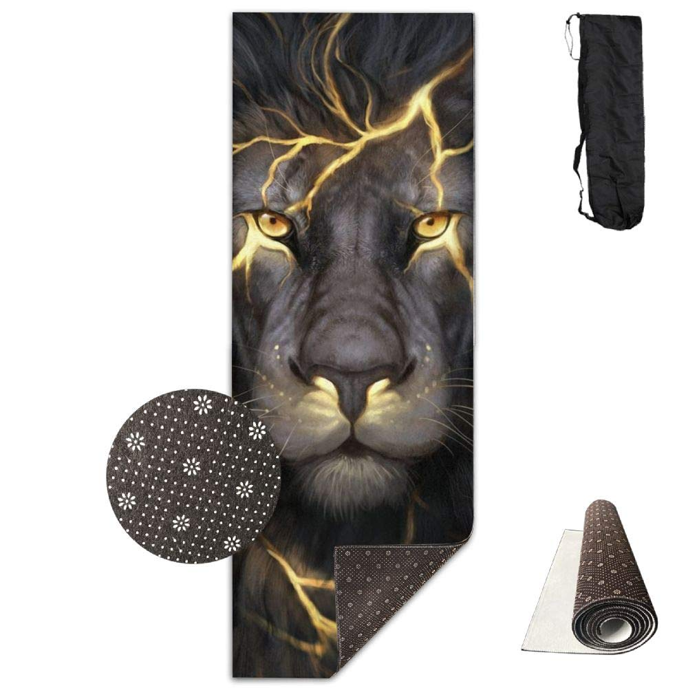 Lighting Lion Printed Design Yoga Mat Extra Thick Exercise & Fitness Mat Fit Yoga,Pilates,Core Exercises,Floor Exercises,Floor Exercises