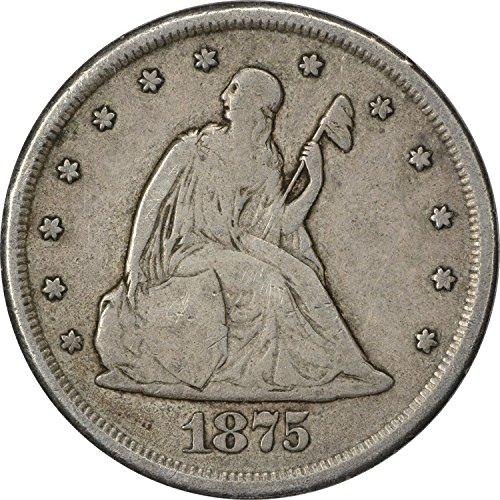 1875 CC Twenty Cent Piece VG