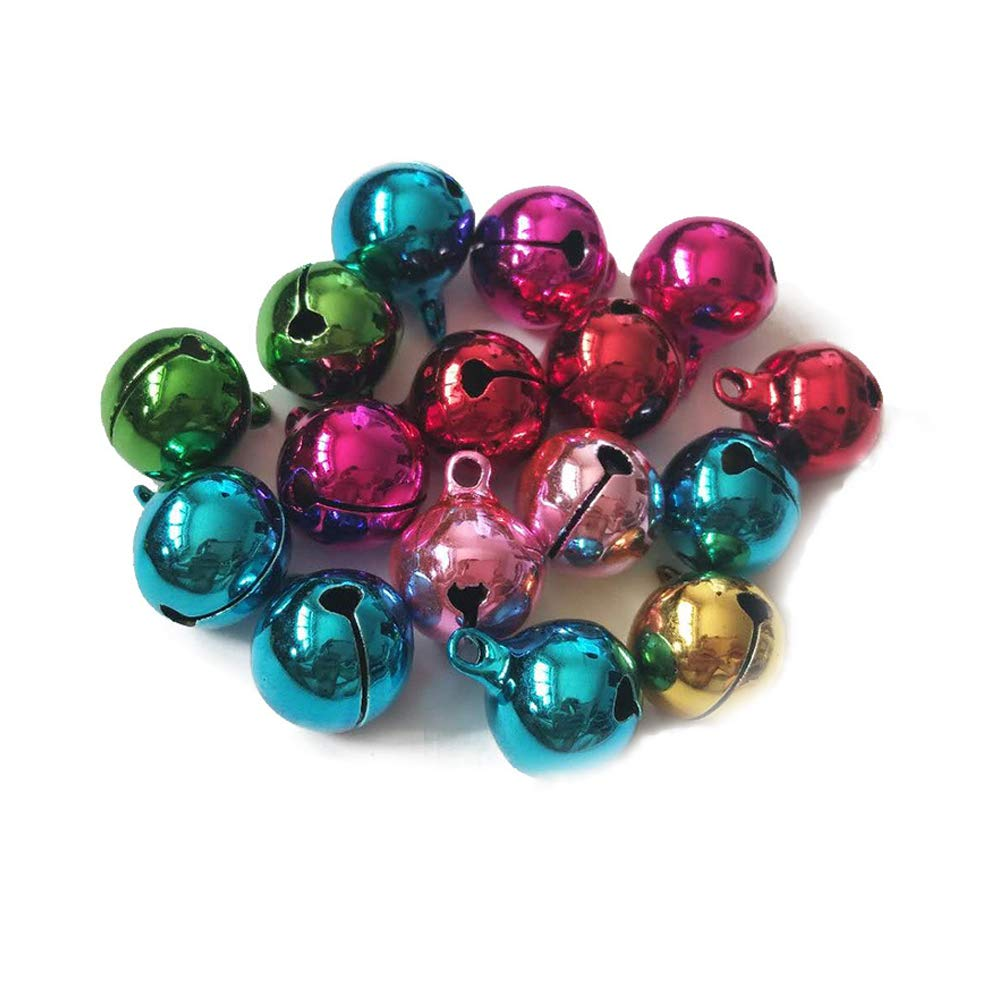10 PCS Colorati Mini Natale Jingle Bells Piccolo di Modo Campane Metallici per Il Collare Pet Pet Supplies Colori Assortiti 18MM