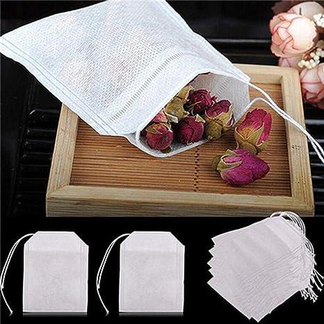 Bruselas08 100 bolsas de té vacías no tejidas con cordón de ...