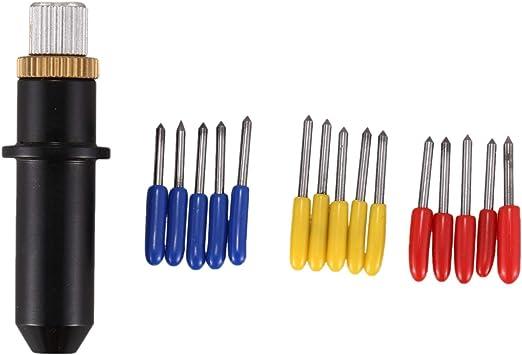 Haude 16Pc 30/45/60 Grados Mimaki Cutting Plotter Cuchillas de Corte de Vinilo + Soporte de Cuchilla Mimaki: Amazon.es: Bricolaje y herramientas