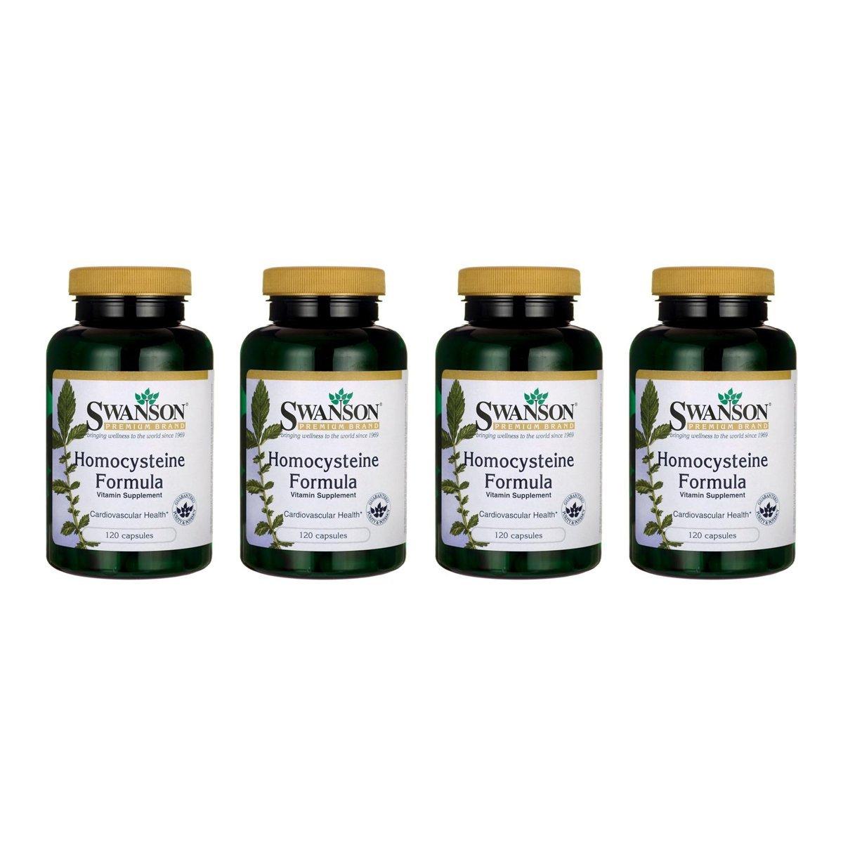 Swanson Homocysteine Formula 120 Caps 4 Pack