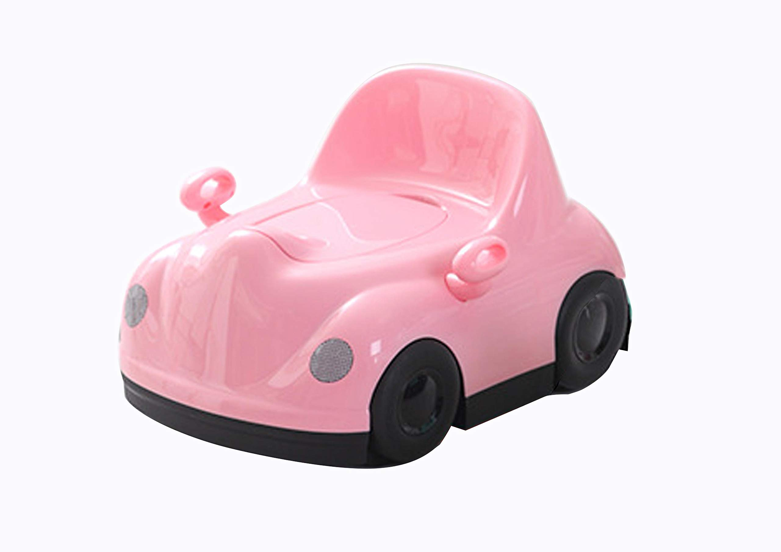 Baby Potty (Pink) 3-in-1 Potty - Cute car Training Toilet Chair for Toddler Boys and Girls