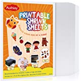 Auihiay 12 Pieces Printable Shrink Plastic Sheets, Shrink Films Papers for Kids Creative Craft, 6 White and 6…