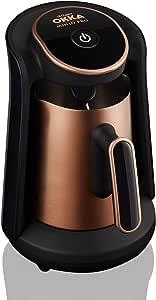 ارزوم اوكا - ماكينة قهوة تركى بـــــ وش منيوا بروا - اسود/نحاسى - OK0010