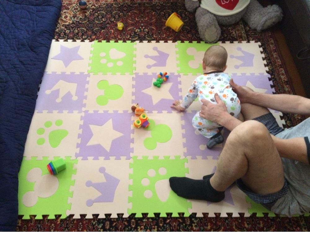 Alphabet Foam Foam Letters Children's Soft Developing Crawling Rugs,Baby Play Puzzle Number/Letter/Cartoon Foam mat,pad Floor for Baby Games by AloPW