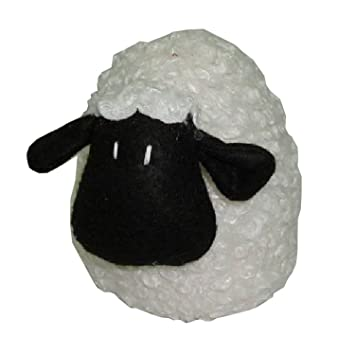 Home Childrenu0027S Nursery White U0026 Black Fabric Doorstop   Lamb Sheep