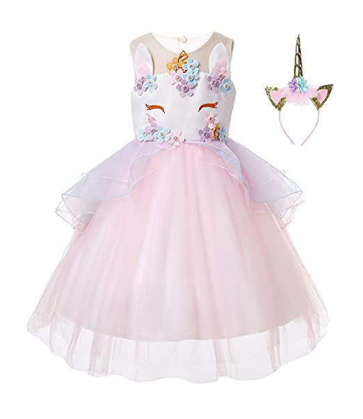 Amazon.com: R-Cloud - Disfraz de unicornio para niñas: Clothing