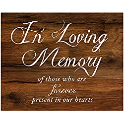 2 City Geese In Loving Memory Sign for Wedding Reception | Rustic Wood Look On Linen Textured Thick Cardstock Paper | Wedding Reception Decoration