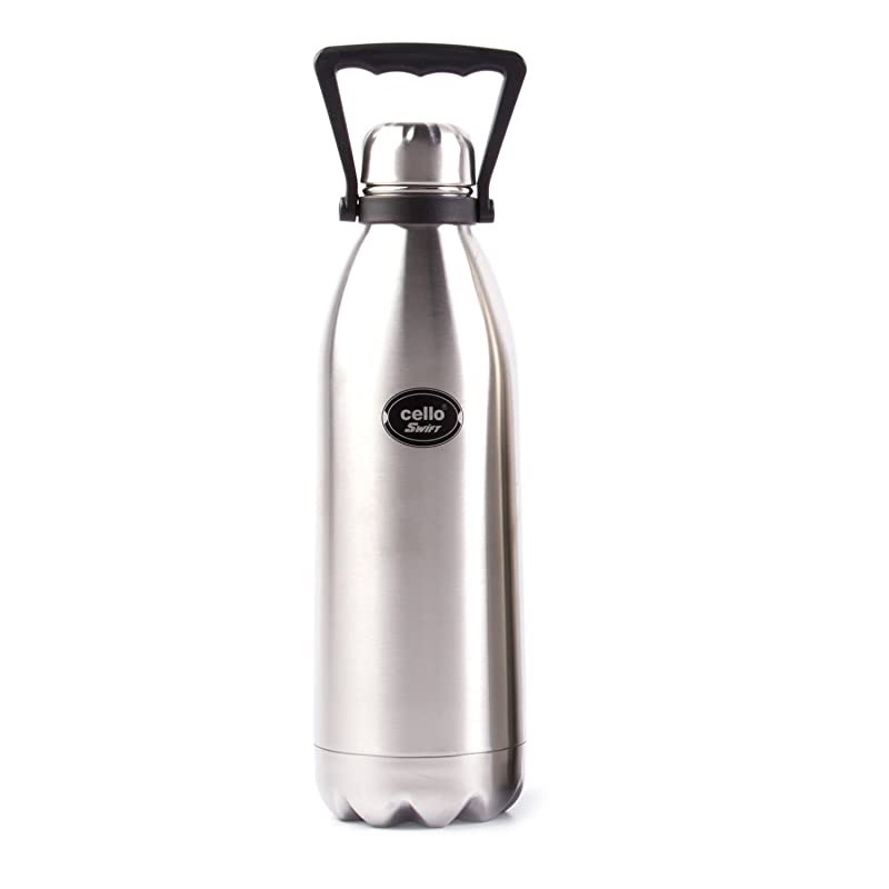 Cello Swift Steel Flask, 1.5-Litre, Silver