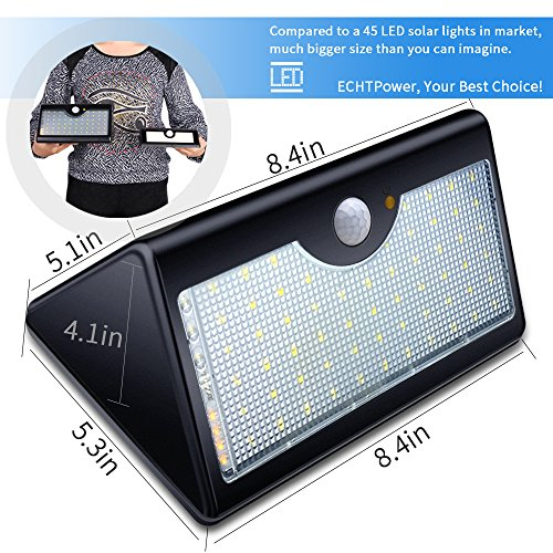 Solar lights outdoor with remote control 1300lm 60 led - Remote control exterior lighting ...
