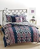 Whim by Martha Stewart Wild Child Dark Blue 3 Piece King Comforter Set - Aztec Inspired Prints