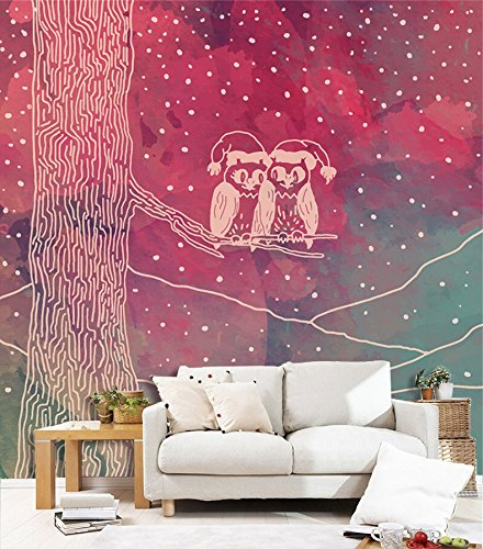 Owl Snow Tree 9 Wall Paper Wall Decal Wall Decor