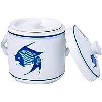 Ciya Blue Carp 450Cc Porcelain Steam Pot
