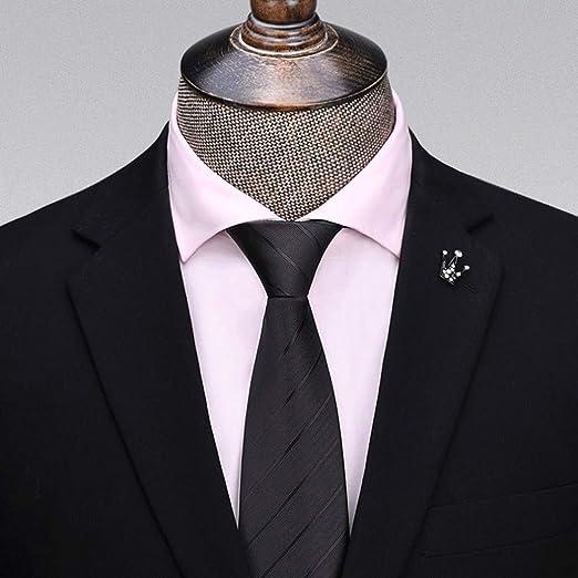 YXN Corbatas de Rayas/Color sólido/Corbata de Hombre/Corbatas de ...