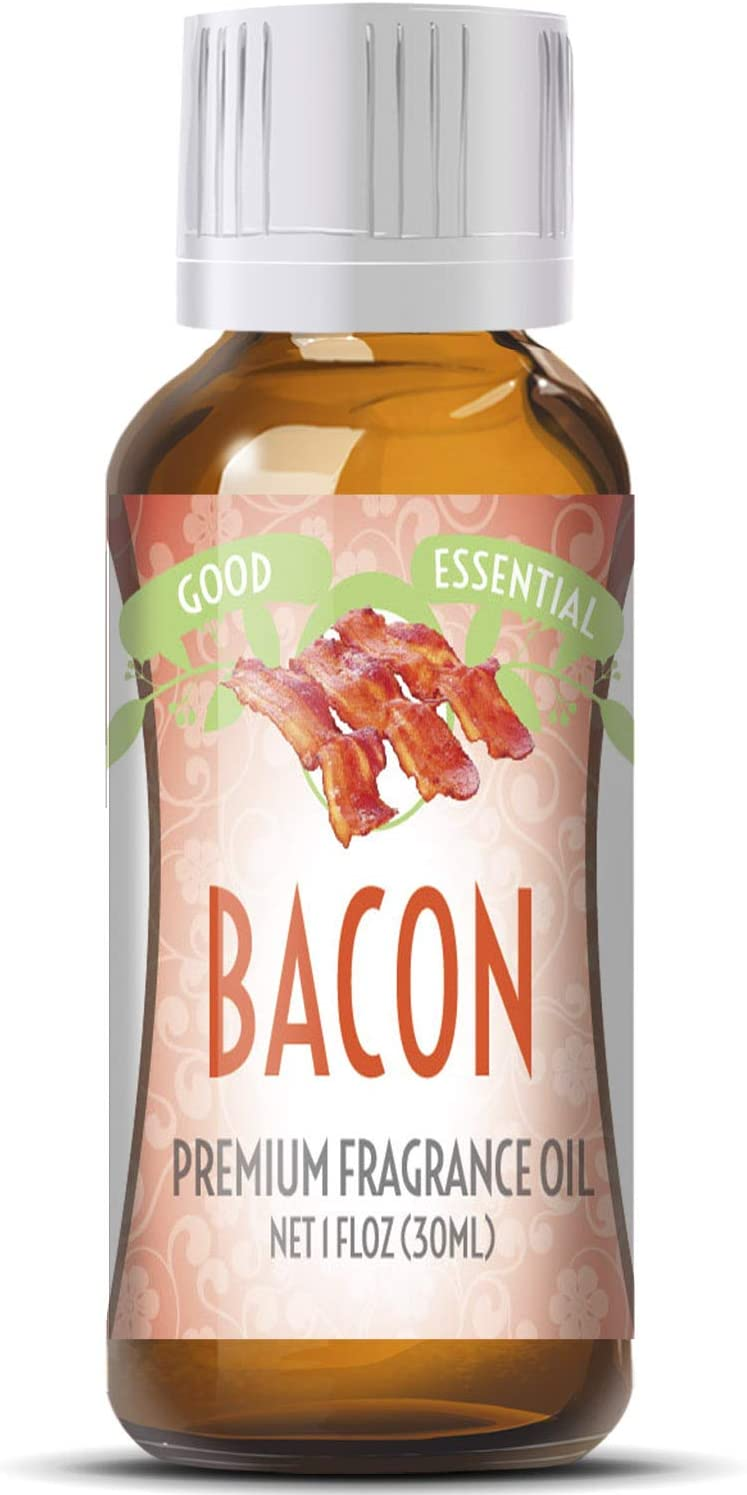 Bacon Scented Oil by Good Essential (Huge 1oz Bottle - Premium Grade Fragrance Oil) - Perfect for Aromatherapy, Soaps, Candles, Slime, Lotions, and More!