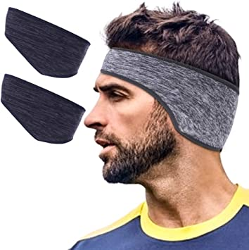 JOEYOUNG Winter Ear Muffs for Men and Women Behind The Head Earmuffs - Pefer for Outdoor Cycling Running Skiing 2 Pack// 1 Pack Foldable Fleece Ear Warmers