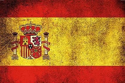 Deko 7 - Placa metálica Decorativa (30 x 20 cm), diseño de Bandera de España: Amazon.es: Juguetes y juegos