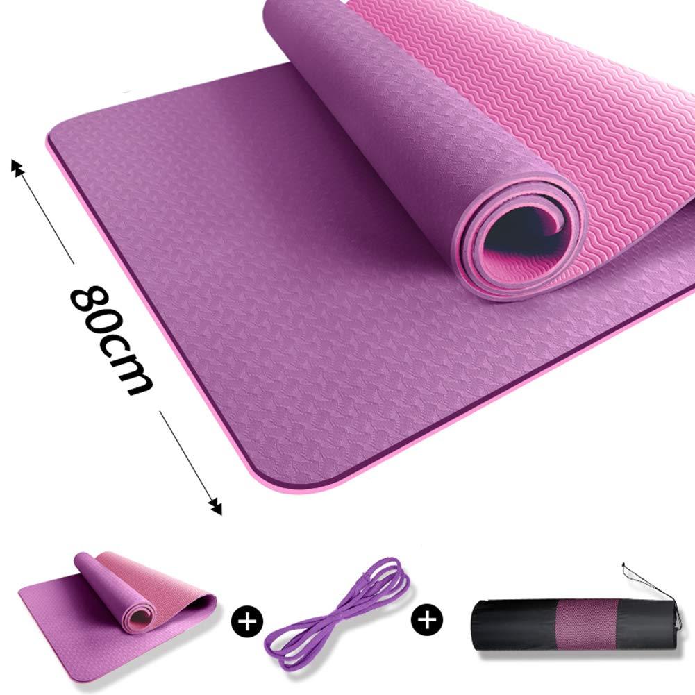 ヨガマット滑り止めカーペットを厚く広げるヨガ/エクササイズ/体操のために男性と女性を183 x 60 x 1.2 cm長くする 8mm A B07MT4Q47D