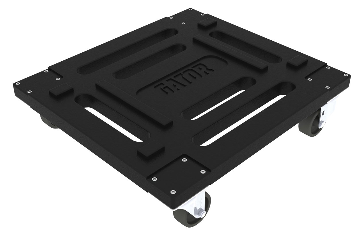 Gator Cases Roto-Molded Caster Kit; Fits both G-PRO and GR-L Series Rack Cases (G-CASTERBOARD)