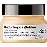L'Oréal Professionnel | Mascarilla Dorada Reconstructora para cabellos secos y dañados, Absolut Repair, SERIE EXPERT…