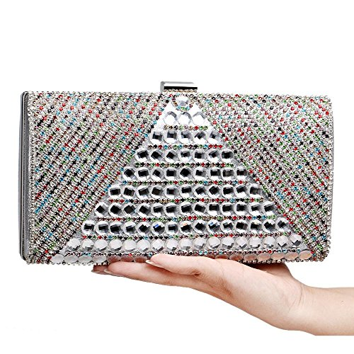 enveloppes et à de États Sacs diamant soirée main en luxe Europe de sacs banquet Unis délicats silver à de main aux TuTu fTXqT