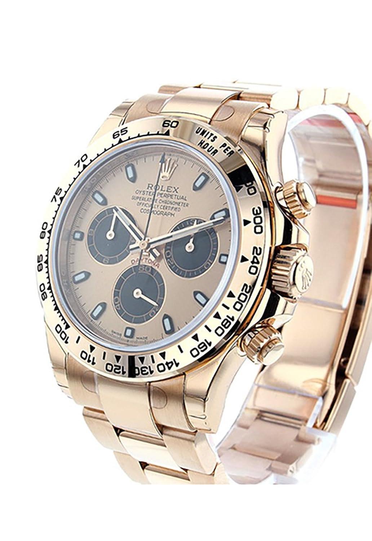 Rolexデイトナ40ピンクとブラックダイヤル18 Kローズゴールドメンズ時計116505 B01KESZ5NY