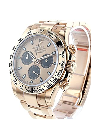 Amazon.com Rolex Daytona 40 Pink and black Dial 18k Rose