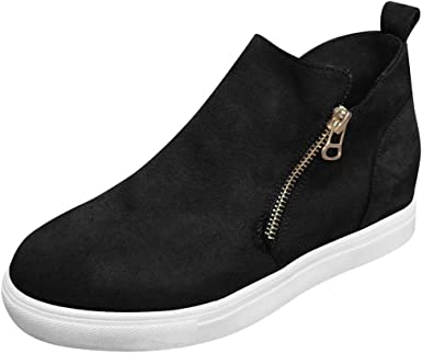 Wedge Shoes High Top Casual Slip On