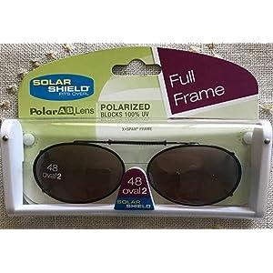 55ec667806 3 SOLAR SHIELD Clip-on Polarized Sunglasses Size 48 Oval 2 Brown Full Frame  NEW