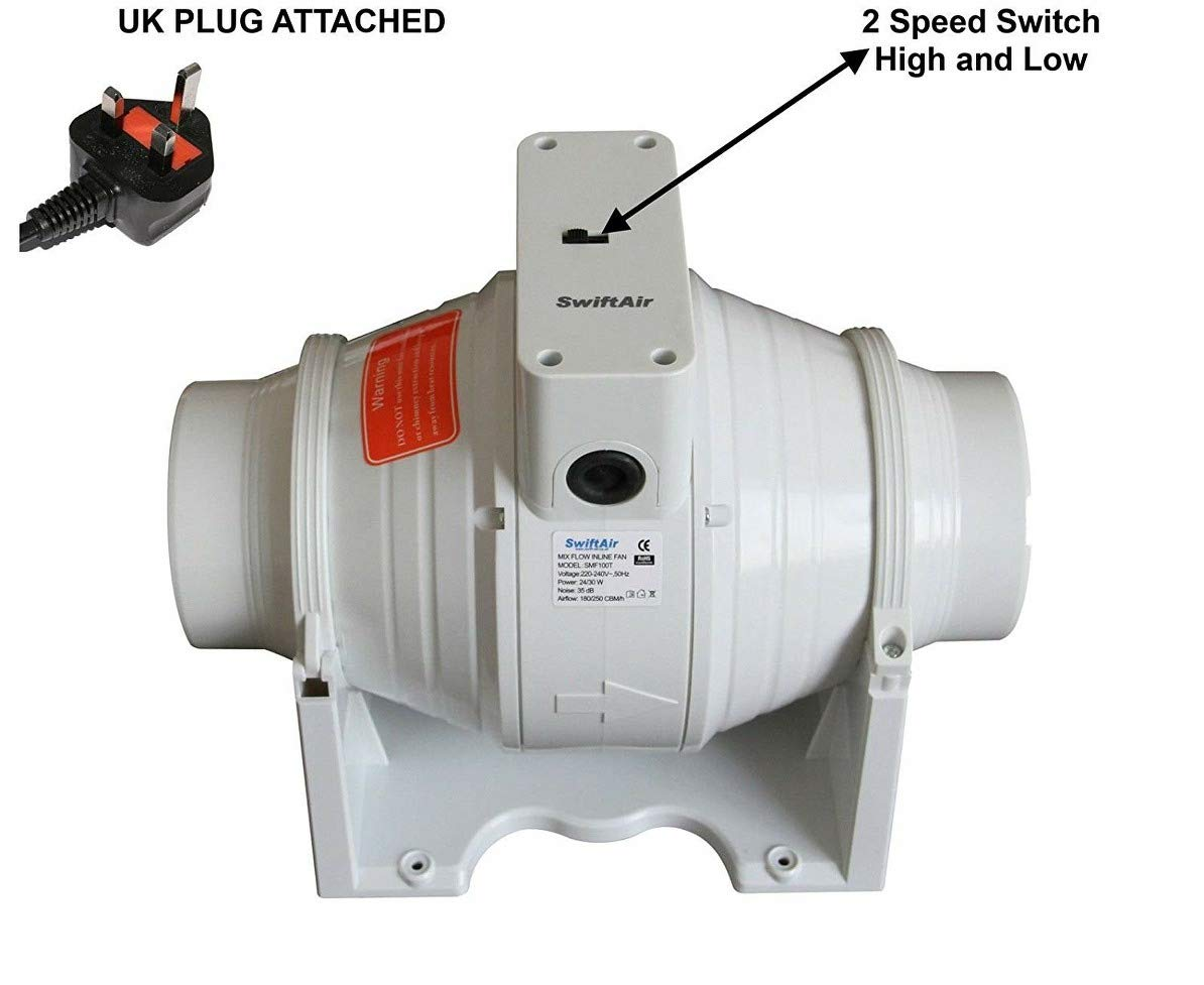 Groovy Sale Xflo100S In Line Mixed Flow 4 Hydroponics Bathroom Extractor Fan Uk Plug Beutiful Home Inspiration Xortanetmahrainfo