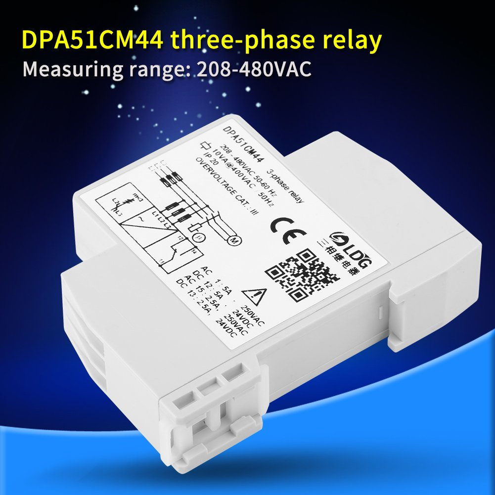 Dpa51cm44 3 Phase Monitoring Relay Current Voltage Threephase Motor With 36v Lowvoltage Control Circuit Relaycontrol Sequence Protector For Three System Without Neutral Loss And