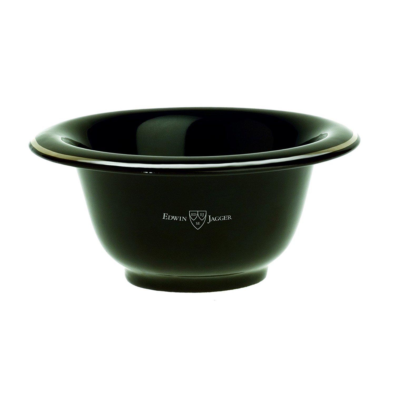 Black Porcelain Shaving Bowl RN16 Edwin Jagger RN116
