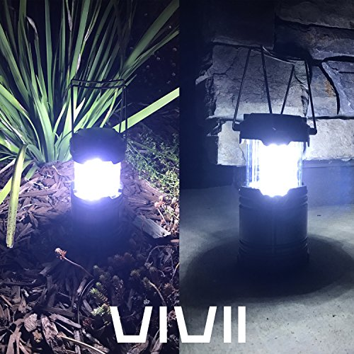 Vivii 4 Pack 30 LED Camping Lantern (Batteries are Not Included), Perfect Portable Outdoor Tabletop Lantern for Fishing, Boating & Camping