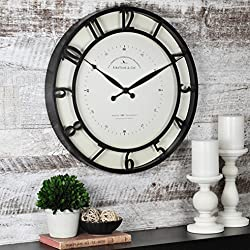 FirsTime & Co. Round Kensington Whisper Wall Clock