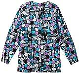 Bio Women's Jelly Bean Black Print Warm Up Jacket Small Print