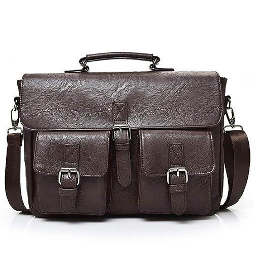 81bd1e54eb5d Amazon.com: Men's Crossbody Bag, Popoti Leather Bag Shoulder Bag ...