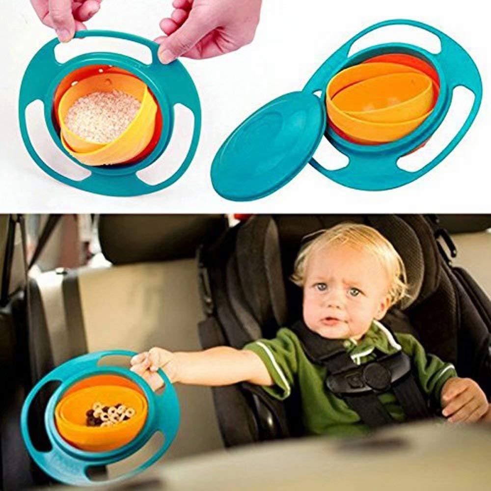 permet d/éviter de renverser les aliments Bol rotatif 360/° non renversable pour enfant