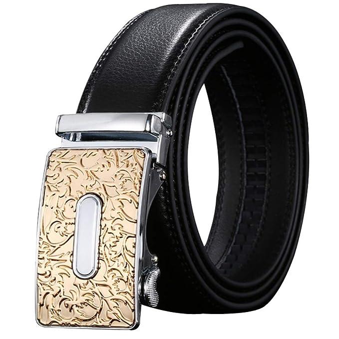 Cinturón Hombre Cuero/Traje Jeans Trabajo Negro Cinturón ...