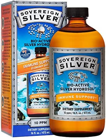 Sovereign Silver Bio-Active Silver Hydrosol for Immune Support* - 16oz – The Ultimate Refinement of Colloidal Silver - Safe*, Pure and Effective* - Premium Silver Supplement