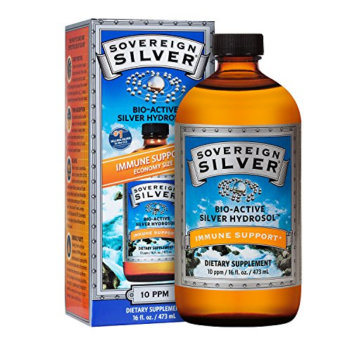 Natural Immunogenics Sovereign Silver Bio-Active Silver Hydrosol, 10 ppm 16 ounces (473 milliliters) - Economy Size